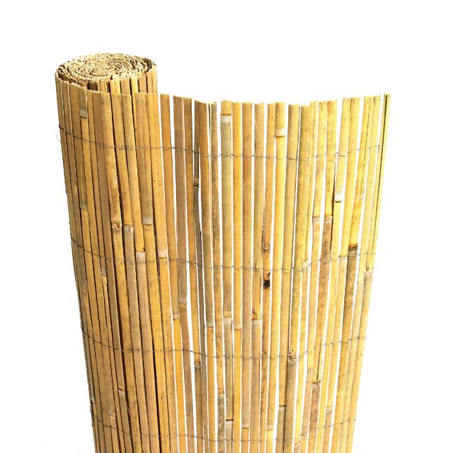Rouleau de canisse en bambou fendu for Couverture pergola canisse