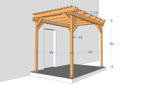 une pergola en bois simple et pas ch re mais de qualit. Black Bedroom Furniture Sets. Home Design Ideas