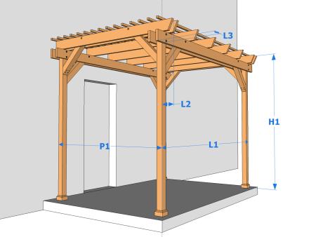 Une Pergola En Bois Simple Et Pas Chere Mais De Qualite Le Guide De Construction Des Pergolas Et Tonnelles