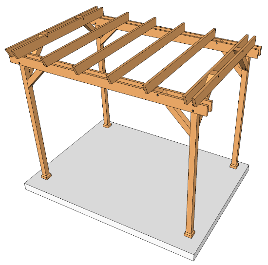 Woodworking plans projects plans construction pergola for Pergola permis de construire
